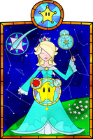 Rosalina Stained Glass by LifeInTechnicolorI