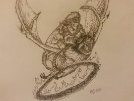 Fan Art - Batrider (Dota 2) by rajal-tikana