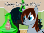 Gift Art for Prince-Crescent: Happy birthday, Adam by ZearouAyedea