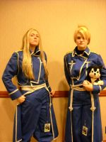 Armstrong and Riza by Awkwardly-Handsome