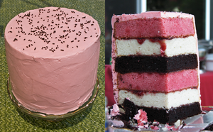 6-layer Neapolitan Cake by loafaries