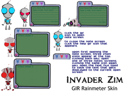 Invader Zim  Rainmeter GIR SKIN by My-Freedom-In-Art