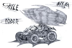 Adder car design concept after the nuke by MADrussky