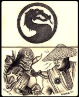 Mortal Kombat : Scorpion vs Raiden by Insanemoe