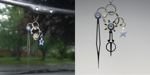Light Blue Steampunk Sun Catcher v3- SOLD by YouniquelyChic