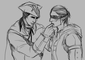 [doodle]Haytham/Connor:to be a good father by Mcpricorn