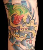 greenish skull by exilink