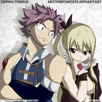 Lucy and Natsu art by Hectorponce98