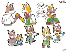 Father and Son McCloud by StarFox-Saiyan