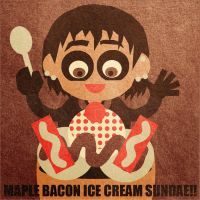 Maple Bacon Ice Cream Sundae by JoJo-Seames