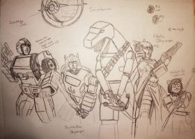 SW-TF character sketches 1 by StarWarsGURU