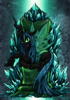 Chrysalis On Throne by Raenyras