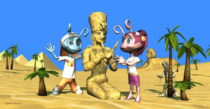 Ant-children R visiting Egypt by mskyDOTtv