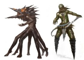 creature concepts 1 by MDA-art