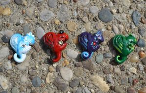 Dragon Heart-Shaped Charms by Sevvie