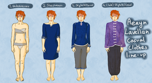 Aeryn casual clothes line up by MademoiselleMaple