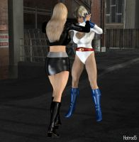 Evil Supergirl vs PowerGirl 01 by hotrod5