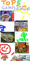 My Top 5 Games of My Childhood by cartoonfan22