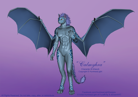 Calmyhra OC Character and Costume Reference by HuntressLight