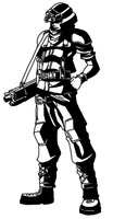 Shinra soldier by MonsterWhacker