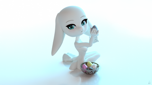 Easter Bunny Wallpaper by XDaiaX