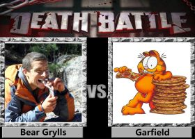 Death Battle - Bear Grylls VS Garfield by a1236gh