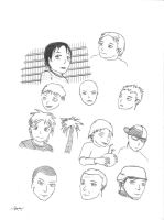 Manga Faces by Drawer888