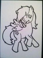Derpy Hooves Sketch Card B n W by PrismQuartz