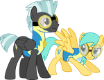 Cadets Thunderlane and Raindrops by ChainChomp2
