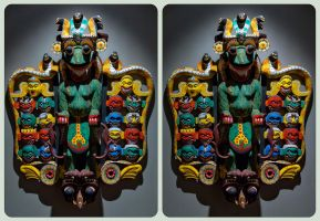 Mahakala Mask 3D ::: HDR Cross-Eye Stereoscopy by zour