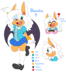 Reference: Blanche the Bat by Sammi-Arts