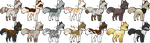 Lots of Cat Adopts :OPEN: by ManlyBug