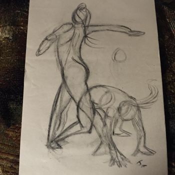 Gestural study contemporary Dance by jediboy
