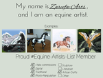 Equine Artist Template by Zareefa-Arts