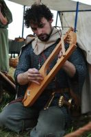 Bard with Lyre 1 by Dewfooter