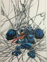Venom copic's , inks by @devgear by FlatsNColors