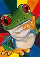 Rainbow Tree Frog by sobeyondthis