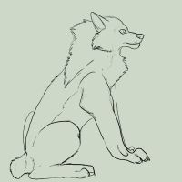 Elder Wolf Linart by DEAFHPN