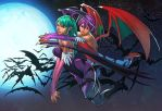 Morrigan and lillith by deffectx