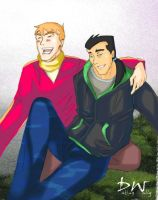 Wally and Dick - Best Friends by datingwally