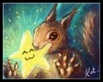 squirrel has a gift for you... by Kat-Nicholson