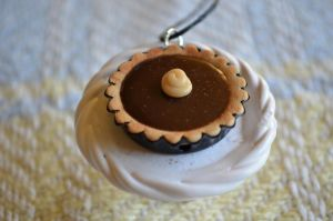 1:12 Chocolate Creme Pie Necklace by cinnamonskyes