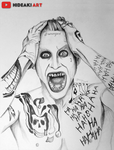 Jared Leto's Joker (Suicide Squad) by HideakiArtReal