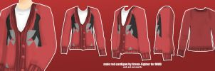 male red cardigan for MMD +DL by Green-Fighter