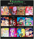 My 2016 Summary Of Art OwO by HealerCharm