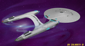 Reimagined USS Enterprise NCC-1701-A : 3 by calamitySi
