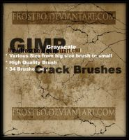 Crack Brushes for GIMP by FrostBo