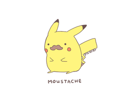 Pikachu With A Mustach by spoonmadness24