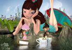 Tea cup Fishing by DRichie