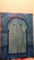 Abstract Tunisian Door by Yoriuchi